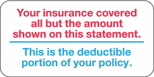 """""""YOUR INSURANCE"""" - RED/BLUE - 2 x 1 - 252/PK"""