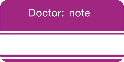 """DOCTOR: NOTE"" - PURPLE/WHITE - 2 X 1 - 252/PK"