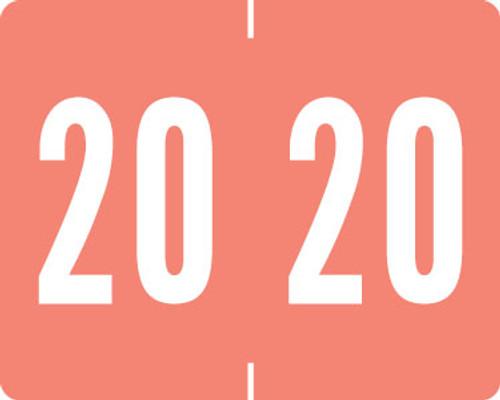 "2020 PINK Year Label - TAB 1309 Series -  1"" H x 1-1/4"" W - 500 Roll"