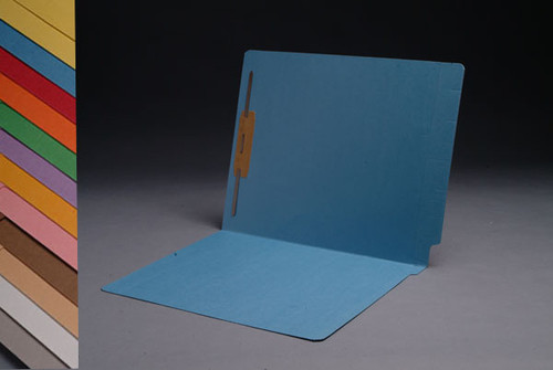 End Tab Folder - Green - Letter Size - Fastener in Position 1 - Full Cut 2-Ply Tab - 50/Box