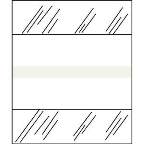 """Tabbies 54589 - Writable Medical Chart Index Tabs - White - 1/2"""" H x 1-1/4"""" W - 100/Pack"""