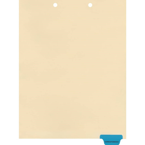 """Correspondence"" Bottom Tab Chart Dividers- Correspondence, Tab Position 6- Blue (100/Pkg) (S-09575)"