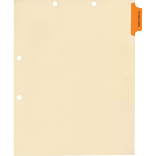 Medical Arts Press Match Colored Side Tab Chart Dividers- Progress Notes, Position 1
