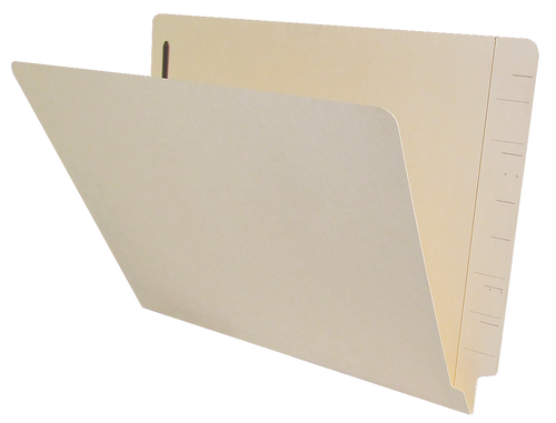 Jeter Compatible End Tab File Folder w/ Fasteners in Position 1 - 11 Pt. Manila - Letter Size - Reinforced Super End Tab - 100/Box