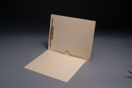 Full Back Pocket Open Bottom Manila Folder with Fastener in Position 1 - 11 Pt. Manila -  Full Cut End Tab -  Letter Size - 50/Box