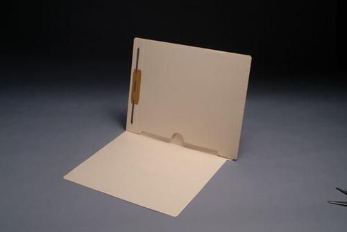 Full Back Pocket Open Bottom Manila Folder with Fastener in Position 1 - 11 Pt. Manila -  Full Cut End Tab -  Letter Size - 50/Box