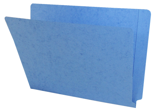 Blue End Tab Folders - Letter Size - 11 pt.  - Reinforced End Tab - 100/Box