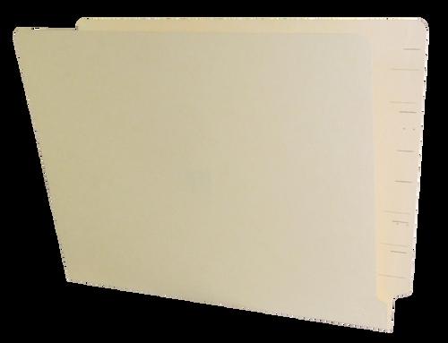 Jeter Compatible End Tab Folder - 14 Pt. Manila - Single Ply Tab - 100/Box