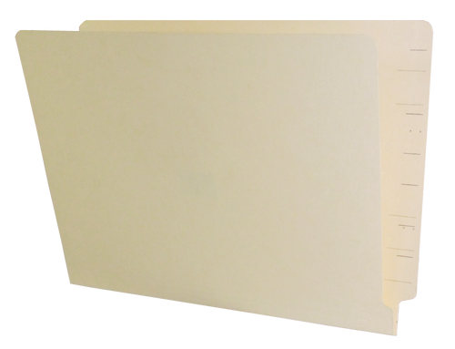 Jeter Compatible End Tab Folder - 14 Pt. Manila - Single Ply Tab - 100/Box