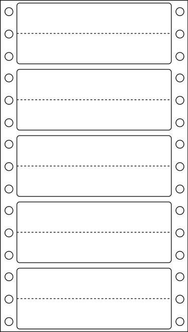 "Tabbies 141 - KARDEX COMPATIBLE SOLID COLOR DESIGNATOR, FAN FOLDED DESIGNATION LABEL, WHITE, 1-3/8""H x 3-1/2""W, 240/PACK"