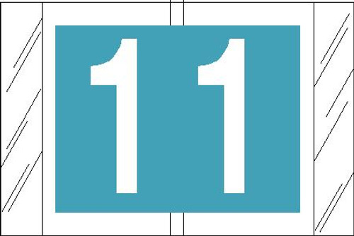 "Tabbies 11001 - ORIGINAL COL'R'TAB® NUMERIC 11000 SERIES, 1"" NUMERIC TAB '#1"", LIGHT BLUE, 1""H x 1-1/2""W, 500/ROLL"