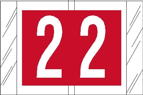 """Tabbies 11002 - ORIGINAL COL'R'TAB® NUMERIC 11000 SERIES, 1"""" NUMERIC TAB '#2', RED, 1""""H x 1-1/2""""W, 500/ROLL"""