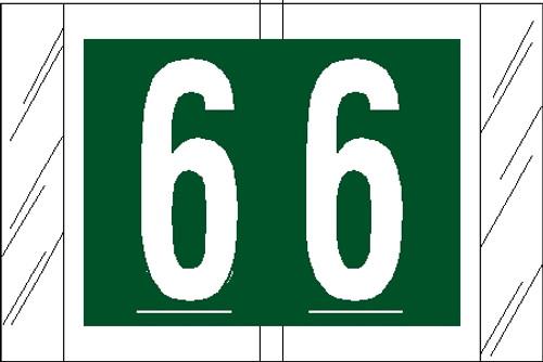 "Tabbies 11006 - ORIGINAL COL'R'TAB® NUMERIC 11000 SERIES, 1"" NUMERIC TAB '#6', GREEN, 1""H x 1-1/2""W, 500/ROLL"