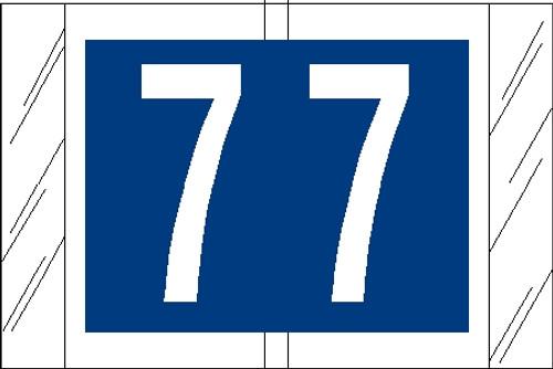 "Tabbies 11007 - ORIGINAL COL'R'TAB® NUMERIC 11000 SERIES, 1"" NUMERIC TAB '#7', BLUE, 1""H x 1-1/2""W, 500/ROLL"