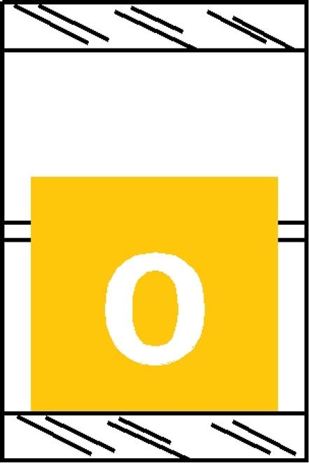 "Tabbies 11050 - ORIGINAL COL'R'TAB® NUMERIC 11050 SERIES, 1"" HORIZONTAL NUMERIC TABS '#0', YELLOW, 1-1/2""H x 1""W, 500/ROLL"