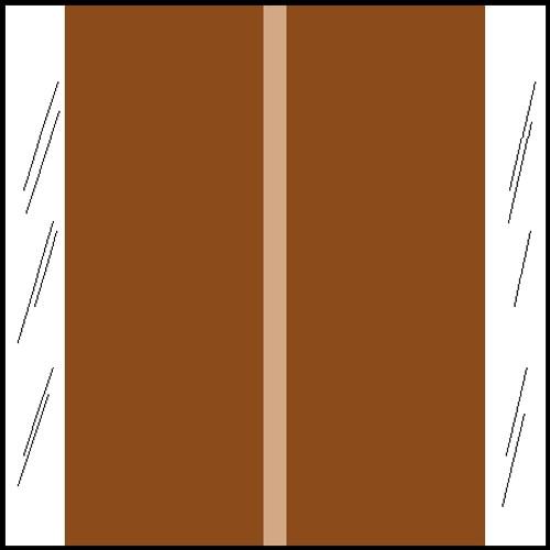 "Tabbies 11611 - ORIGINAL COL'R'TAB® SOLID COLOR DESIGNATOR 11600 SERIES, 1-1/2"" SOLID DESIGNATOR TABS, BROWN, 1-1/2""H x 1-1/2""W, 500/ROLL"
