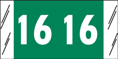 "Tabbies 11716 - ORIGINAL COL'R'TAB® YEARCODE 11700 LABEL SERIES, 3/4"" YEARCODE LABELS '16', GRAY, 3/4""H x 1-1/2""W, 1,000/ROLL"