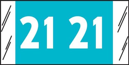 "Tabbies 11721 - ORIGINAL COL'R'TAB® YEARCODE 11700 LABEL SERIES, 3/4"" YEARCODE LABELS '21', LIGHT BLUE, 3/4""H x 1-1/2""W, 1,000/ROLL"