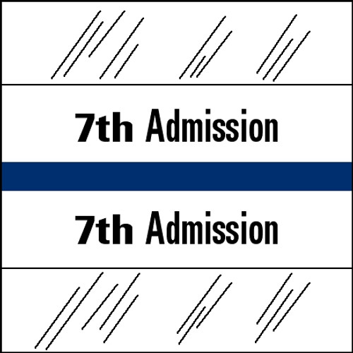 "Tabbies 14507 - 14500 ADMISSION INDEX TABS, 7TH ADMISSION, BLUE, 1-1/2""H x 1-1/2""W, 100/PACK"