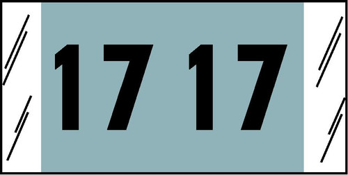 "Tabbies 14717 - ORIGINAL COL'R'TAB® DIGI-KOLOR YEARCODE 14700 LABEL SERIES, 3/4"" DIGI-KOLOR YEARCODE LABELS '17', LIGHT BLUE, 3/4""H x 1-1/2""W, 1,000/ROLL"