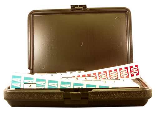 "Tabbies 32030 - ORIGINAL COL'R'TAB® ALPHA 82030 LABEL SERIES KIT, 82030 SERIES ALPHA LABEL KIT, KIT INCLUDES: 20 STRIPS EACH VOWEL, 10 STRIPS EACH CONSONANT, 12""L x 8""W x 2-1/4""D, 3,200 LABELS/KIT"