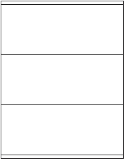 "Tabbies 40163 - AVERY COMPATIBLE LASER/INKJET BLANK LABEL SHEETS, LASER/INKJET LABEL SHEETS, BLANK WHITE, 3-1/2""H x 8-1/2""W, 300 LABELS/PACK"
