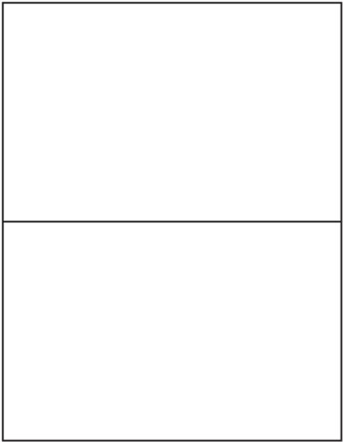 "Tabbies 40164 - AVERY COMPATIBLE LASER/INKJET BLANK LABEL SHEETS, LASER/INKJET LABEL SHEETS, BLANK WHITE, 5-1/2""h x 8-1/2""W, 200 LABELS/PACK"