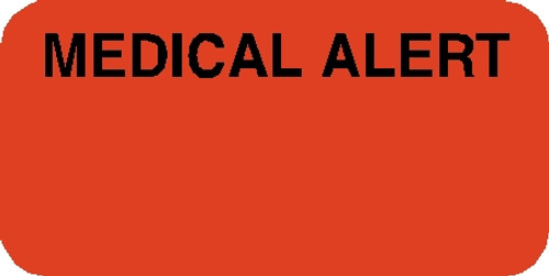 """Tabbies 40524 - """"MEDICAL ALERT"""" Label - FLUORESCENT RED, 3/4""""H x 1-1/2""""W, 250/ROLL"""