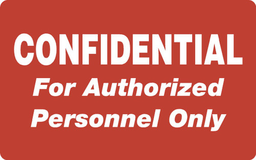 """Tabbies 40574 - HIPAA LABELS, CONFIDENTIAL FOR AUTHORIZED PERSONNEL ONLY, RED, 4""""W x 2-1/2""""H, 100/ROLL"""