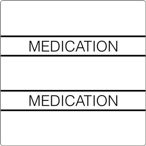 "Tabbies 52114 - 52100 PATIENT CHART INDEX TABS, MEDICATION, WHITE, 1-1/2""H x 1-1/2""W, 102/PACK"