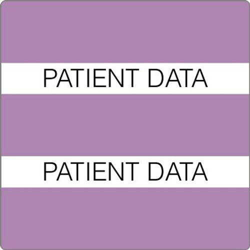 "Tabbies 52117 - 52100 PATIENT CHART INDEX TABS, PATIENT DATA, LAVENDER, 1-1/2""H x 1-1/2""W, 102/PACK"