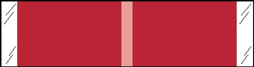 "Tabbies 53301 - KARDEX COMPATIBLE SOLID COLOR DESIGNATOR 53300 SERIES, 3/8"" SOLID DESIGNATOR LABEL, RED, 3/8""H x 1-7/16""W, 1,000/ROLL"