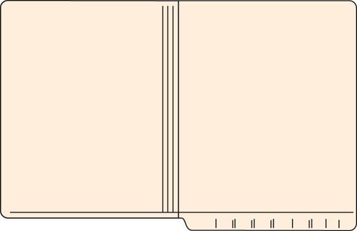 """Tabbies 56018 - FILE FOLDERS, 11PT 2-PLY REINFORCED LETTER SIZE FOLDER, MANILA, 9-1/2""""H x 12-1/4""""W, 500/CASE"""