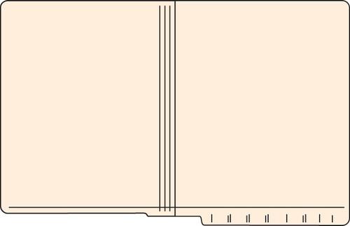 """Tabbies 56022 - FILE FOLDERS, 11PT 2-PLY REINFORCED LETTER SIZE FOLDER, MANILA, 9-1/2""""H x 12-1/4""""W, 500/CASE"""