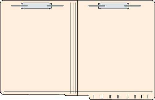 """Tabbies 56024 - FILE FOLDERS, 11PT 2-PLY REINFORCED LETTER SIZE FOLDER, FASTENER IN POSITION #1 & 3, MANILA, 9-1/2""""H x 12-1/4""""W, 250/CASE"""