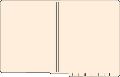 "Tabbies 56025 - FILE FOLDERS, 14PT 1-PLY LETTER SIZE FOLDER, MANILA, 9-1/2""H x 12-1/4""W, 500/CASE"