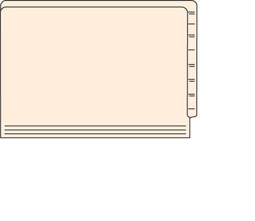 "Tabbies 56055 - FILE FOLDERS, 14PT 1-PLY LEGAL SIZE FOLDER, MANILA, 9-1/2""H x 15-1/4""W, 500/CASE"