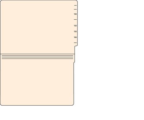"Tabbies 56058 - FILE FOLDERS, 14PT 1-PLY LEGAL SIZE FOLDER, MANILA, 9-1/2""H x 15-1/4""W, 500/CASE"