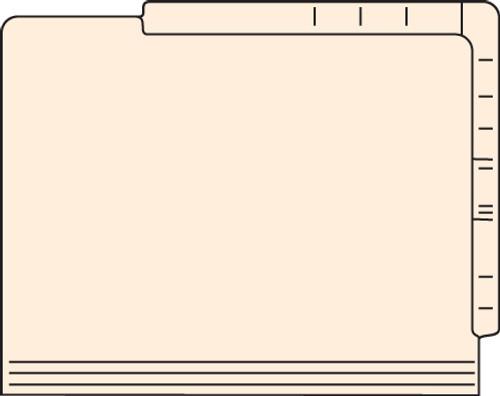 """Tabbies 56222 - DUAL TOP/SIDE FILE FOLDERS, 11PT 2-PLY REINFORCED LETTER SIZE FOLDER, MANILA, 9-1/2""""H x 12""""W, 500/CASE"""