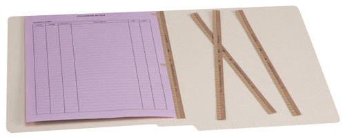 Tabbies 56820 - U-FILE-M BINDER STRIPS, U-FILE-M BINDER STRIPS, BROWN, 100 STRIPS/BOX