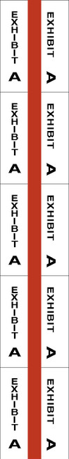 "Tabbies 58071 - ALPHA EXHIBIT INDEX TABS, ALPHABETICAL EXHIBIT INDEX TABS ""EXHIBIT A"", RED COLOR EDGE, 1"" TABS, 50 TABS/PACK, 5 PACKS/BOX"