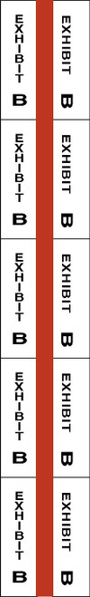 "Tabbies 58072 - ALPHA EXHIBIT INDEX TABS, ALPHABETICAL EXHIBIT INDEX TABS ""EXHIBIT B"", RED COLOR EDGE, 1"" TABS, 50 TABS/PACK, 5 PACKS/BOX"