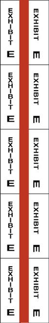 "Tabbies 58075 - ALPHA EXHIBIT INDEX TABS, ALPHABETICAL EXHIBIT INDEX TABS ""EXHIBIT E"", RED COLOR EDGE, 1"" TABS, 50 TABS/PACK, 5 PACKS/BOX"