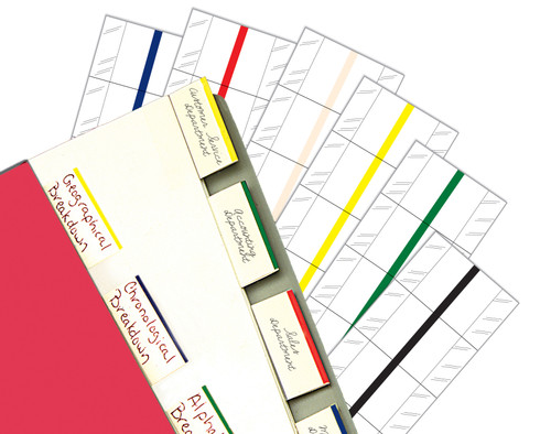"Tabbies 58802 - 2"" ERASABLE WRITE-ON INDEX TABS, 2"" ERASABLE WRITE-ON INDEX TABS, 12 TABS/PACK, RED, 2""W - 1/2"" TAB EXTENSION, 10 PACKS/BOX"