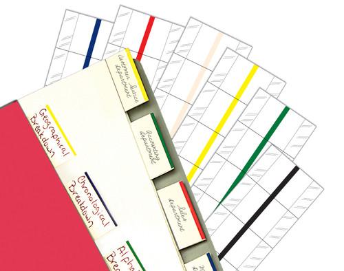 "Tabbies 58810 - 2"" ERASABLE WRITE-ON INDEX TABS, 2"" ERASABLE WRITE-ON INDEX TABS, 12 TABS/PACK, WHITE, 2""W - 1/2"" TAB EXTENSION, 10 PACKS/BOX"