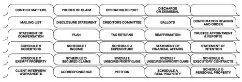 "Tabbies 68302 - ""BANKRUPTCY"" INDEX SET, 30 TABS/SET, 1 SET/PACK, WHITE, 8-1/2""W x 11""H, 1/2"" TAB EXTENSION, 10 PACKS/BOX"