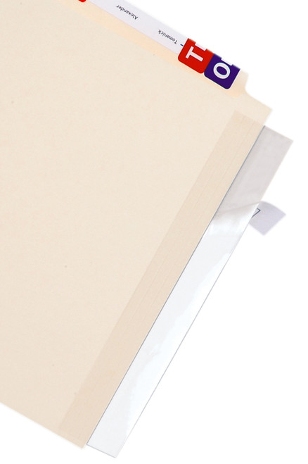 "SPINE EDGE PROTECTOR - Tabbies 68387 - LABEL/FILE FOLDER PROTECTORS, FULL END TAB PROTECTOR, CLEAR, 11""W x 2""H, 100/PACK"