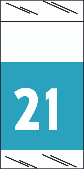 """Tabbies 71721 - ORIGINAL COL'R'TAB® 71700 YEARCODE LABEL SERIES, 3/4"""" YEARCODE LABEL '21', LIGHT BLUE, 3/4""""H x 1-1/2""""W, 1,000/ROLL"""