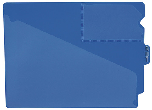 "Tabbies 74501 - BLUE CENTER TAB VINYL OUTGUIDE, LETTER - OVERALL: 9-1/2""H x 12-7/8""W, BODY SIZE: 9-1/2""H x 12-3/8""W, BLUE, 10/PACK"