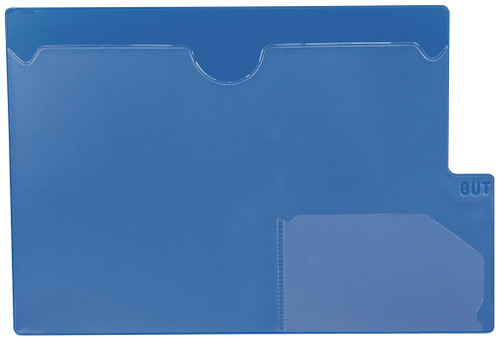 "Tabbies 74581 - BLUE LARGE TAB VINYL OUTGUIDE, OVERALL: 9""H x 13-1/4""W, BODY SIZE: 9""H x 12""W, BLUE, 10/PACK"